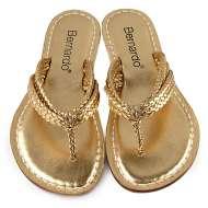 Bernardo Miami Woven Gold