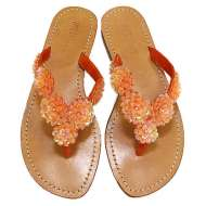 Mystique Rosette Sandals Orange
