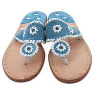 Jack Rogers Navajo Blue Suede/White