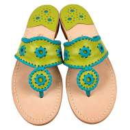 Jack Rogers Navajo Lime/Turquoise