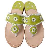 Jack Rogers Navajo Lime/White