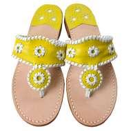 Jack Rogers Navajo Bright Yellow/White