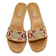 Matisse Beaded Slides Natural