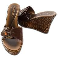 Matisse Wedge Buckle Chocolate