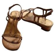 Snakeskin Sandals Bronze