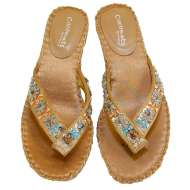Matisse Beaded Thong Sandals Natural