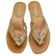 Matisse Beaded Thong Sandals Natural