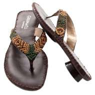 Beaded Sandals Chocolate