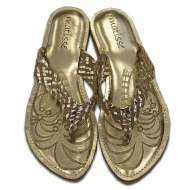 Matisse Metallic Sultan Sandal Gold