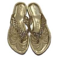 Matisse Metallic Sultan Sandal Gold