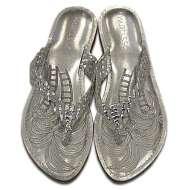 Matisse Metallic Sultan Sandal Silver