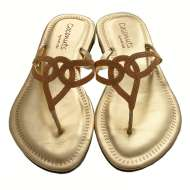 Triple Loop Sandal Gold