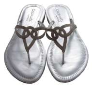 Triple Loop Sandal Silver
