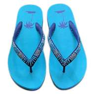 Matisse Beaded Beach Sandals Turquoise