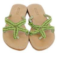 Mystique Starfish Sandals Green