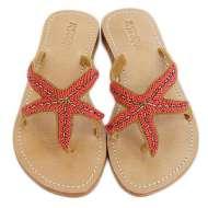 Mystique Starfish Sandals Red