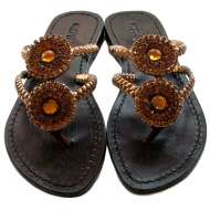 Mystique Spiral Sandals Bronze