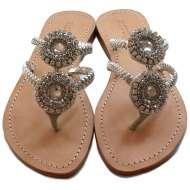 Mystique Spiral Sandals Silver