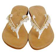 Mystique Mother of Pearl White Sandals Mother of Pearl