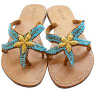 Mystique Gold Starfish Turquoise