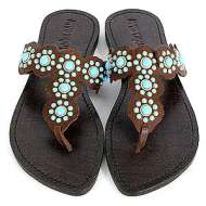 Mystique with Turquoise Sandals Brown
