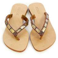 Mystique Mother of Pearl Sandals Bronze