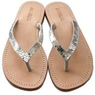 Mystique Sequin Thongs Silver