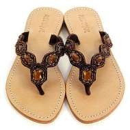 Mystique Jeweled Sandals Bronze