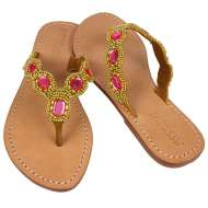 Mystique Jeweled Sandals Pink