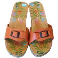 Mystique Hand-Painted & Flower Slide Melon