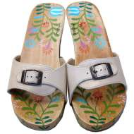 Mystique Hand-Painted & Flower Slide Sand