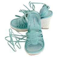 Volatile Platform Wrap Sandals Aqua