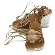 Volatile Platform Wrap Sandals Bronze