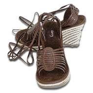 Volatile Platform Wrap Sandals Chocolate