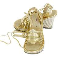 Volatile Platform Wrap Sandals Gold