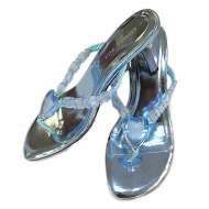 Metallic Heels in Blue