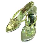 Metallic Heels in Green