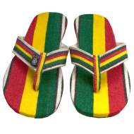 Sole Rebels Men's Easy Ridin Phat Strap Rasta