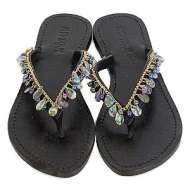 Mystique Mother of Pearl White Sandals Abalone