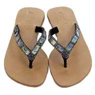 Mystique Mother of Pearl Sandals Abalone