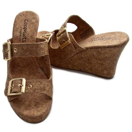Cork Wedge Double Strap