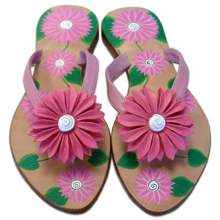 Mystique Hand-Painted Daisy Sandals