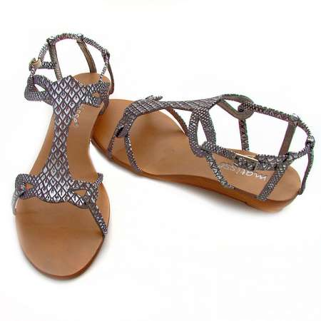 Snakeskin Strap Sandals