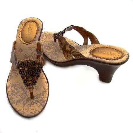 Jeweled Triangle Stacked Heels