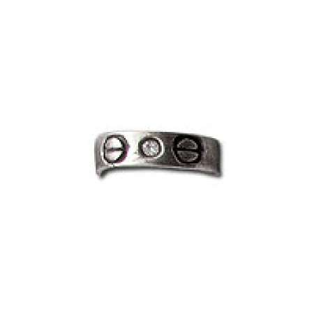 Sterling Silver Toe Ring Clear Stone