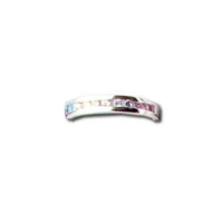 Sterling Silver Toe Ring Multi-Color Stones