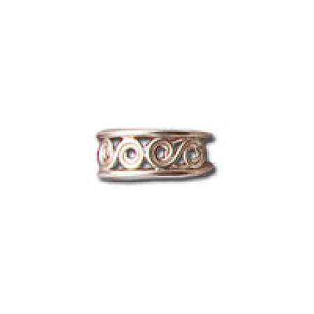 Sterling Silver Toe Ring Waves of Spirals