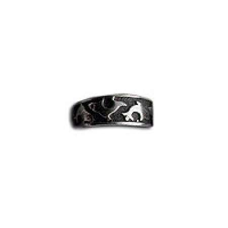 Sterling Silver Toe Ring Oxidized With Dolphins