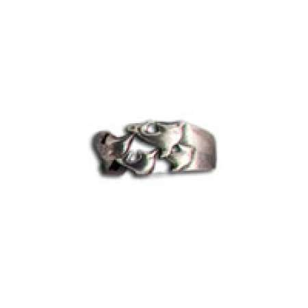 Sterling Silver Toe Ring Dolphins