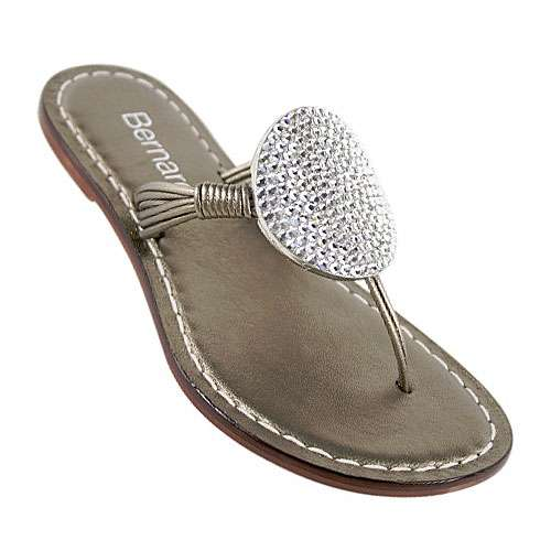 6e79422c436a Bernardo Must Stone Flat Thong Women s Sandals